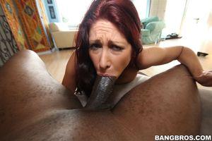Tiffany Mynx tries to deep throat..