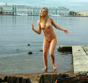 Cute russian amateur girl going wild..