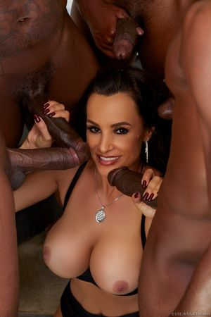Interracial gangbanged busty MILF from..