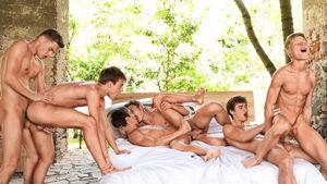 Pip, Sven,Jim with Bastian, Kieran,..