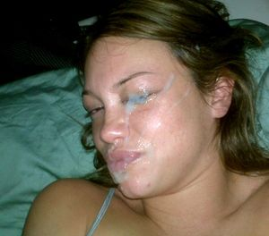 Beautiful ex-wives takes messy facial..