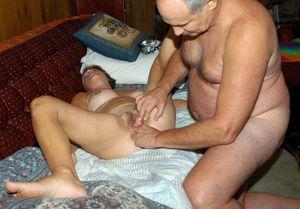Old mans fingered and fucked hairy..