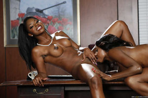 Two ebony goddess Jasmine Webb and..