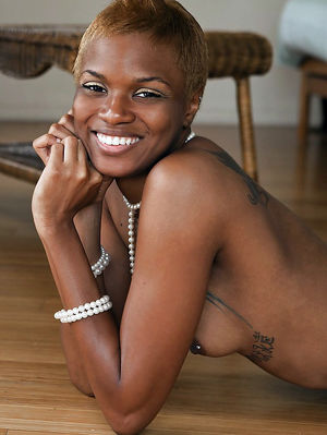 Afro-american girls sexy posing on..