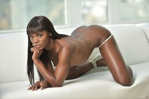 Ebony model Ana known as Foxxx posing..