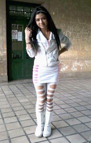 Latin teen girls posing, tight..