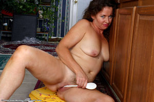 Playful MILF from Auntjudys in kitchen