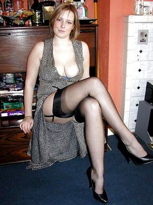 Cheerful mature ladies in sexy..