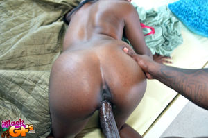 Hot black gf Christie welcomes her..
