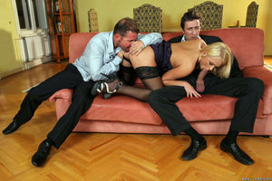 European swinger sex party with DP
