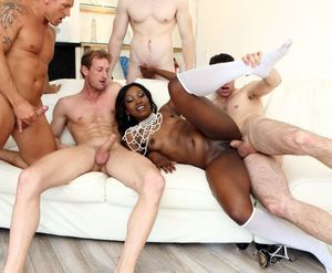 Fresh black gangbang pictures with..