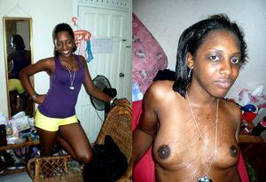 Ugly African slut, double facial..