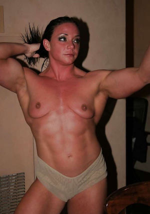 Collection of muscled nude women