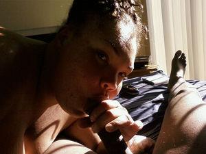Black Mom sucks dick her neighbor..