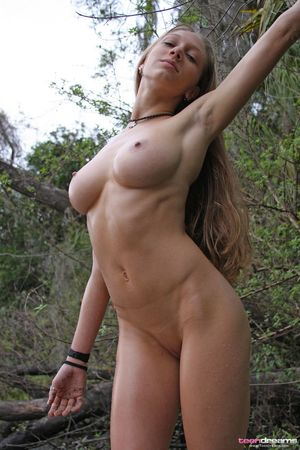 Big tits european babe Nathaly posing..