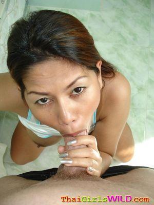 Thai slut sucking dick and swallows..