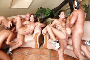 Groupsex orgy action with sluts Lucy..