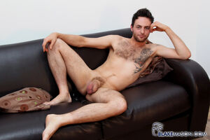 hairy guy riley tess jerks off at..