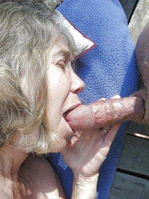 Blow job granny Blowjob
