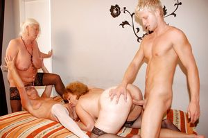 Sexy young guy fucking group of..