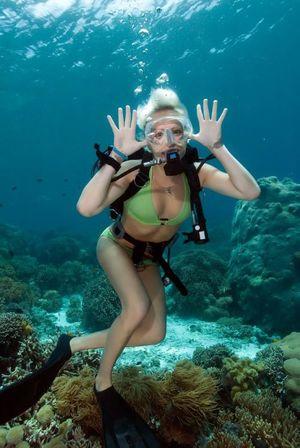 Black men scuba diving nude -..