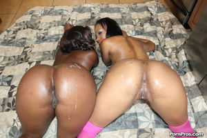 Big assed black chicks line up for a..