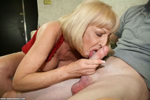 Two blonde grannies share a horny..