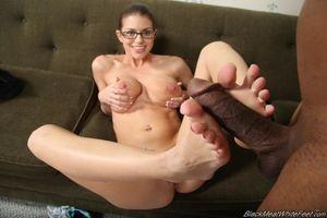 Black Meat White Feet Cum - XXXPornoZone