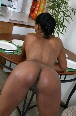 Well naked bent over black woman..