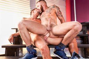 Gigantic cock gay pornstar Max..