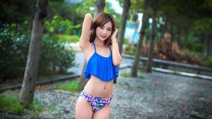 Download Wallpaper brunette girl asian..