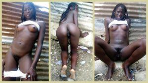 "Black ass skinny Haitian woman "".."