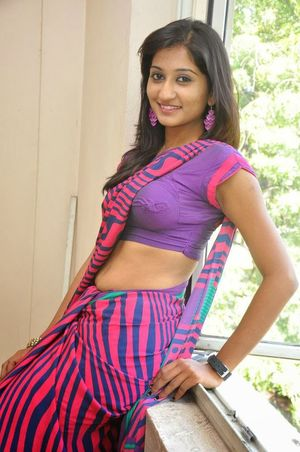 Dressing Below Navel Saree: Akshaya..