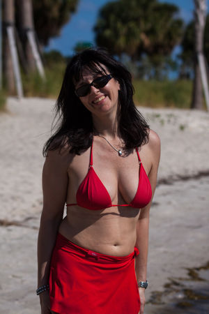 Busty Bikini Milf on the beach NN..