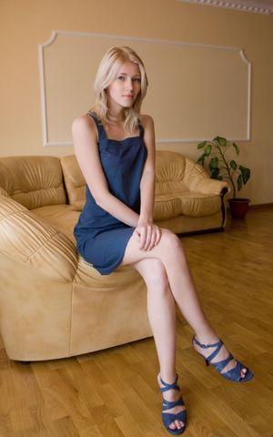 Sexy Breedable Blonde Teen in open toe..