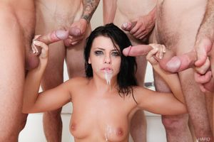 Top pornstar Adriana Chechik drips..