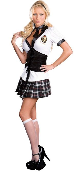 NYC Prep Sexy School Girl Costume..