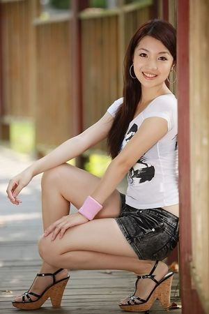 Good-looking China woman Beautiful..