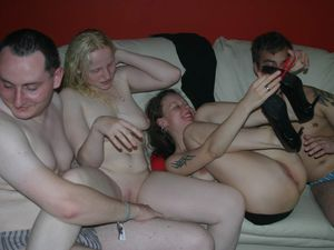 Swingers party spin the bottle sex..