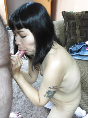 Asian wife Yuka is sucking dick - Pics..