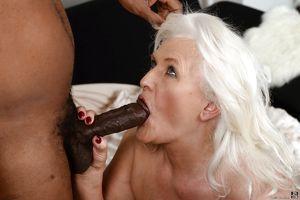 Fat granny Judi banging big black dick..