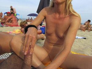 Hot Blonde gives Blow Job, Hand Job,..