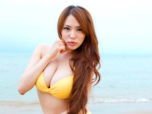 Busty Asian Bikini Model WallpaperSexy