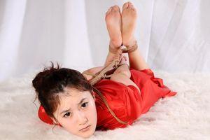 Chinese girls hogtied like animals 5..