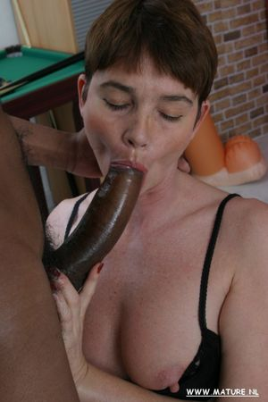 This horny housewife loves a big black..
