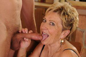 Granny Malya gets boned on her kitchen..