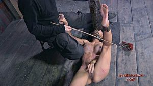 Tia Ling busty asian is bound in..