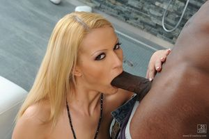 Cherry Kiss takes huge deep in her..