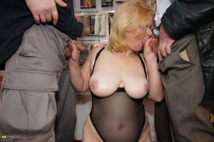 This big titted mature slut loves all..