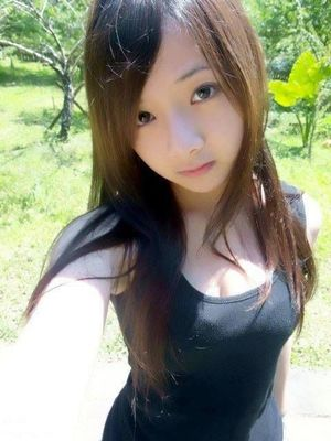 Super cute face asian girl selfie Kek